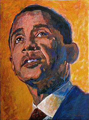Barack Painting - President Barack Obama by David Lloyd Glover