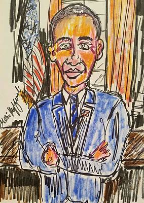President Barack Obama Print by Geraldine Myszenski