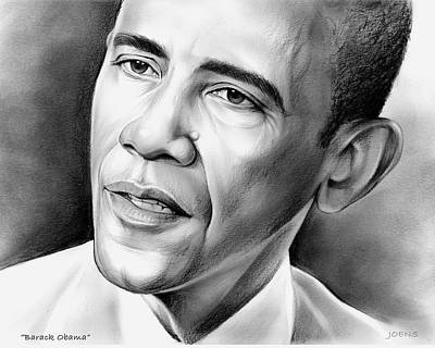 President Barack Obama Drawing - President Barack Obama by Greg Joens