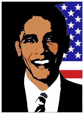 President Barack Obama Art Print by Otis Porritt