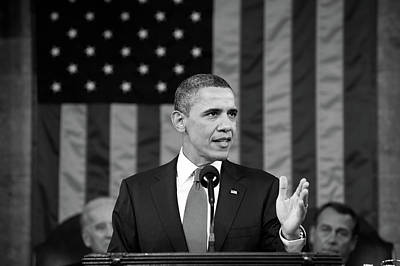 Photograph - President Barack Obama - State Of The Union Address by Janeb13