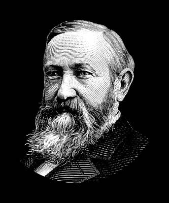Digital Art - President Benjamin Harrison Graphic by War Is Hell Store