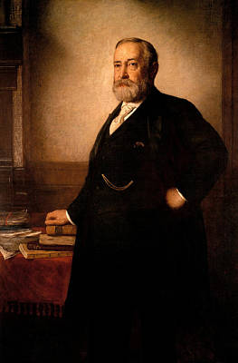 Harrison Painting - President Benjamin Harrison by War Is Hell Store
