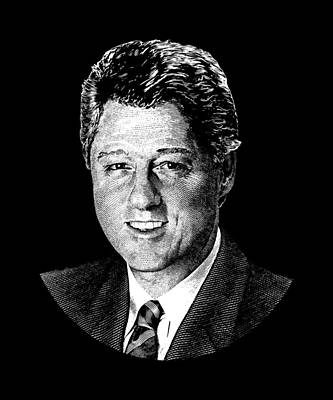 Bill Clinton Wall Art - Digital Art - President Bill Clinton Graphic by War Is Hell Store