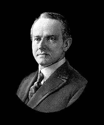 Digital Art - President Calvin Coolidge Graphic by War Is Hell Store