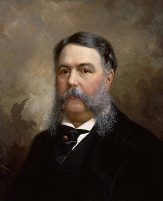 Painting - President Chester A. Arthur Painting by War Is Hell Store