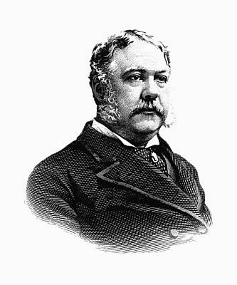 Presidential Mixed Media - President Chester Arthur Graphic by War Is Hell Store