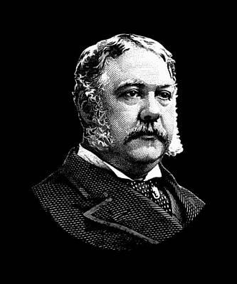 Politician Digital Art - President Chester Arthur by War Is Hell Store