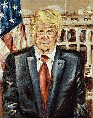 Painting - President Donald Trump by Ryan Demaree