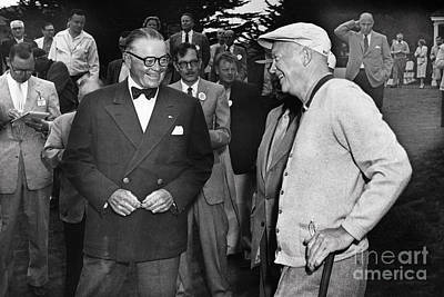 Photograph - President Dwight D. Eisenhower And Samuel F. B. Morse 1956 by California Views Mr Pat Hathaway Archives