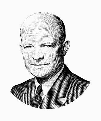 President Dwight Eisenhower Graphic Art Print by War Is Hell Store