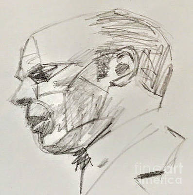 Drawing - President Ford by Suzn Art Memorial