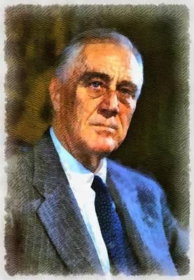 President Painting - President Franklin D. Roosevelt by John Springfield