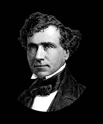 Digital Art - President Franklin Pierce Graphic by War Is Hell Store