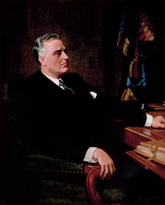 Painting - President Franklin Roosevelt by Frank O Salisbury