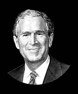 George Bush Wall Art - Digital Art - President George W. Bush Graphic by War Is Hell Store