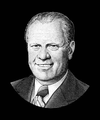 Digital Art - President Gerald Ford Graphic by War Is Hell Store