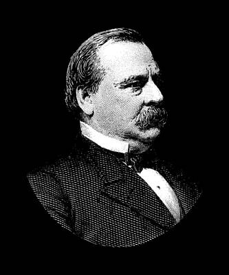Store Digital Art - President Grover Cleveland Graphic by War Is Hell Store