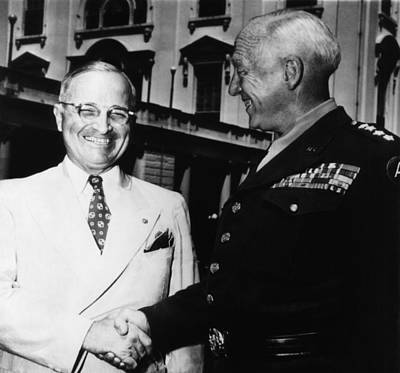 President Harry Truman, Shaking Hands Art Print