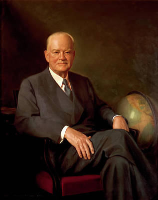 Painting - President Herbert Hoover by Mountain Dreams