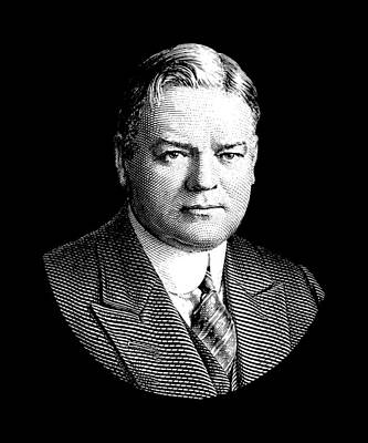 Digital Art - President Herbert Hoover Graphic by War Is Hell Store