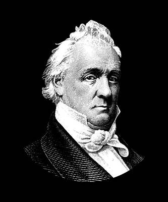 Digital Art - President James Buchanan Graphic by War Is Hell Store