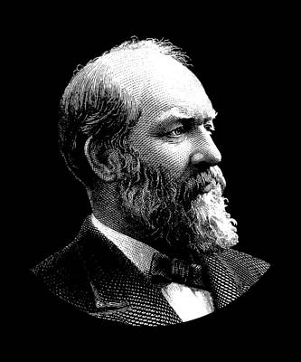 Digital Art - President James Garfield Graphic by War Is Hell Store