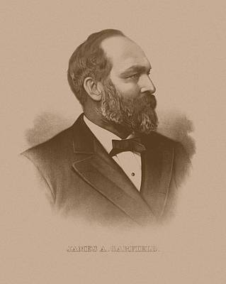 Landmarks Mixed Media Royalty Free Images - President James Garfield - Three Royalty-Free Image by War Is Hell Store