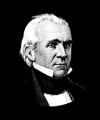 President James K. Polk Graphic Art Print