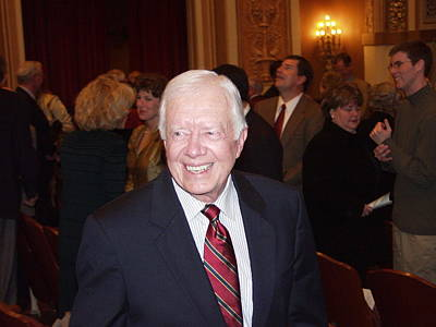 Photograph - President Jimmy Carter - Nobel Peace Prize Celebration by Jerry Battle
