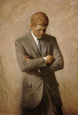 Painting - President John F Kennedy by Aaron Schikler