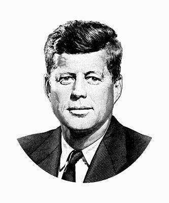 Digital Art - President John F. Kennedy Graphic by War Is Hell Store