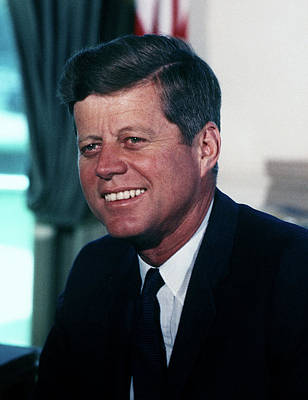 Photograph - President John F Kennedy by White House Photographer