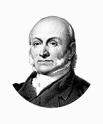 President John Quincy Adams Graphic  Art Print by War Is Hell Store