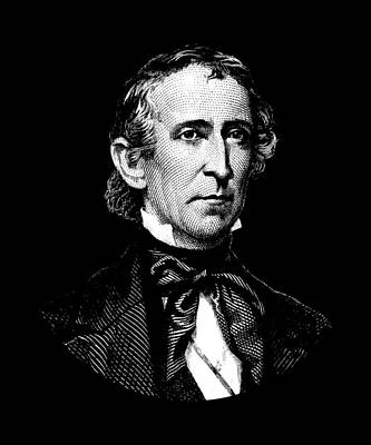 Digital Art - President John Tyler Graphic by War Is Hell Store