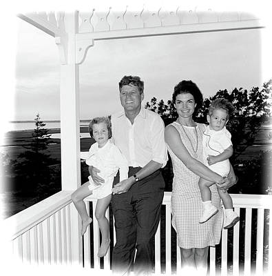 Photograph - President Kennedy-jacqueline-caroline And John Jr by Ericamaxine Price