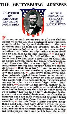 President Lincolns Gettysburg Address Art Print