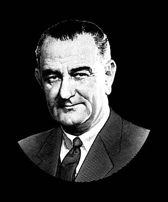 Digital Art - President Lyndon Johnson Graphic by War Is Hell Store