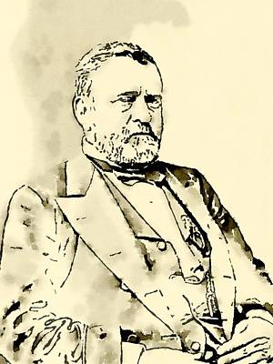 Obama Painting - President Of The United States Of America Ulysses Grant by John Springfield
