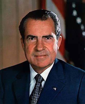 Photograph - President Richard M Nixon by U S N A