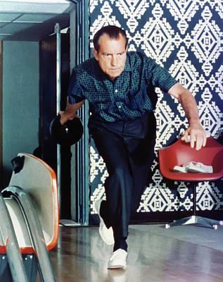 Lebowski Digital Art - President Richard Nixon Bowling by Bill Cannon