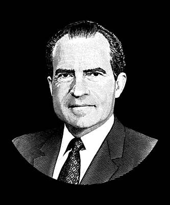 Digital Art - President Richard Nixon Graphic by War Is Hell Store