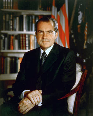 Photograph - President Richard Nixon by Oliver Adkins