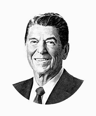 Digital Art - President Ronald Reagan Graphic by War Is Hell Store