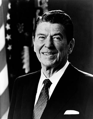 Politicians Photograph - President Ronald Reagan by International  Images