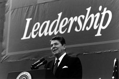 President Ronald Reagan Leadership Photo Art Print