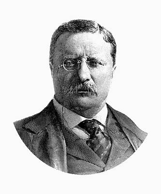 Digital Art - President Theodore Roosevelt Graphic by War Is Hell Store