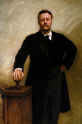 Painting - President Theodore Roosevelt by Mountain Dreams