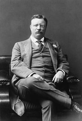 Photograph - President Theodore Roosevelt - The Progressive  by War Is Hell Store