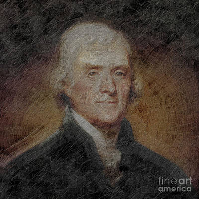 Figurative Painting - President Thomas Jefferson by Gull G